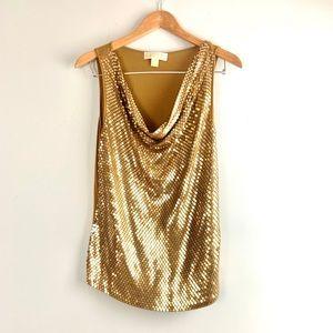 🌺Buy 3 for $25 Michael Kors M gold sequin top